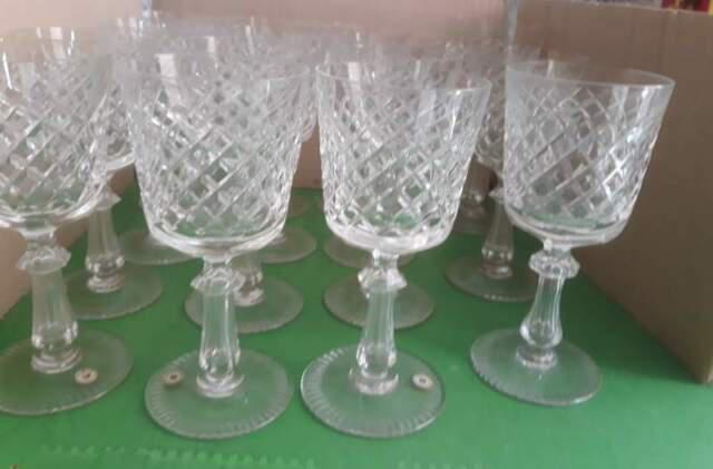 Servizio 12 bicchieri di cristallo