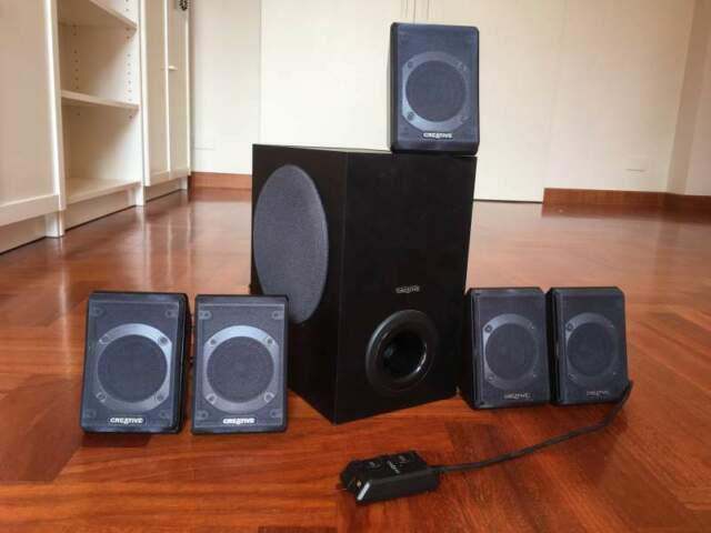 Sistema audio 5.1 creative inspire p580 casse