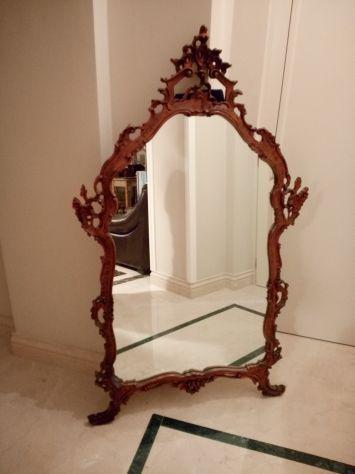 Specchiera barocca (87x150 h. cm) intagliata nel massello