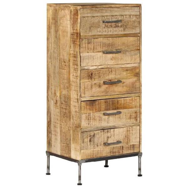 Vidaxl cassettiera 45x35x106 cm in legno massello di mango