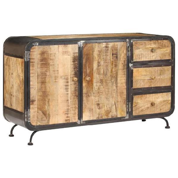 Vidaxl credenza 140x40x80 cm legno massello di mango