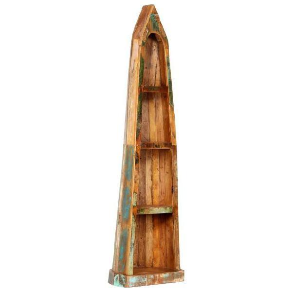 Vidaxl libreria 50x40x180 cm in legno massello di recupero