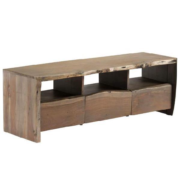 Vidaxl mobile porta tv legno massello di acacia bordi vivi