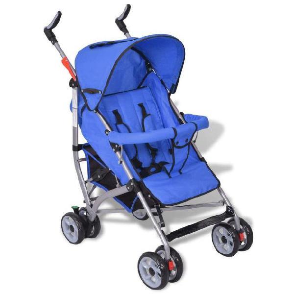 Vidaxl passeggino per bambini in 5 posizioni blu