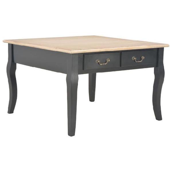 Vidaxl tavolino da caffè nero 80x80x50 cm in legno