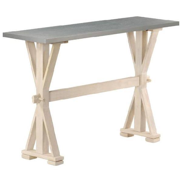 Vidaxl tavolo consolle top in zinco 118x35x76 cm massello di