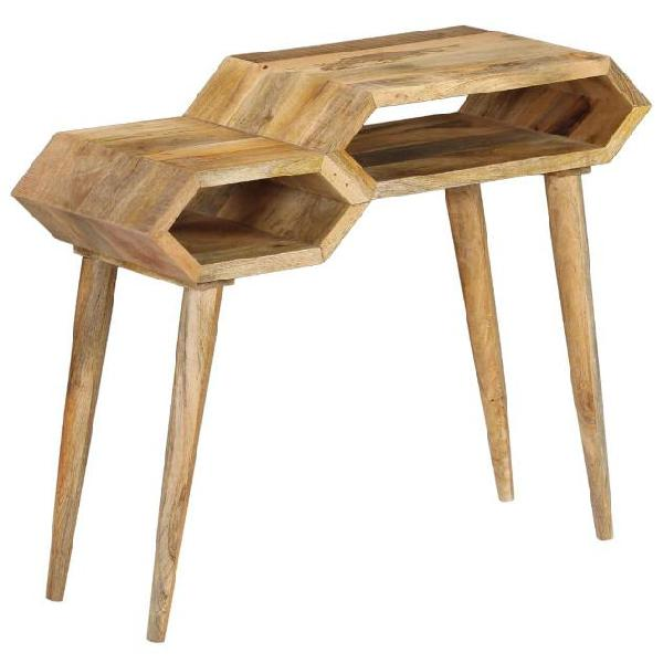 Vidaxl tavolo consolle in legno massello di mango 90x35x76