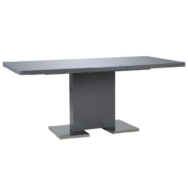 Vidaxl tavolo da pranzo estensibile grigio lucido