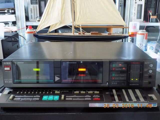 Aiwa ad-wx220 / wx220 tape deck doppia cassetta 8 tracce