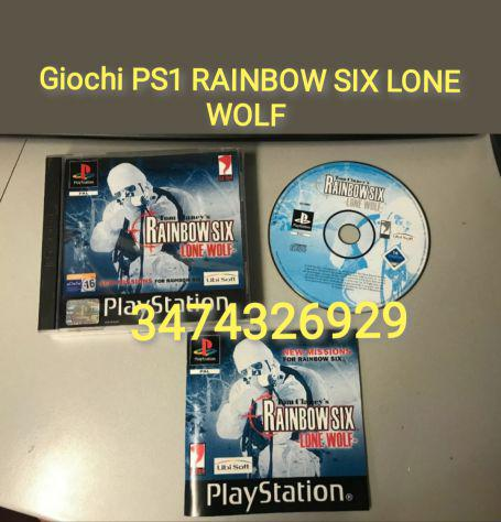 Giochi ps1 rainbow six lone wolf ita