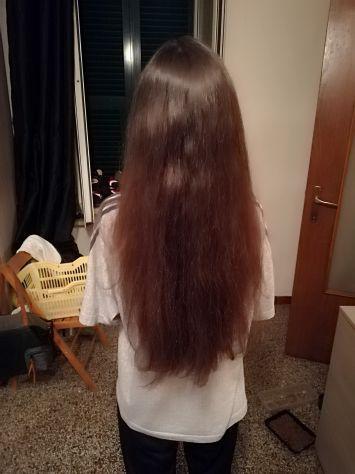 Vendo capelli castano rossicci naturali