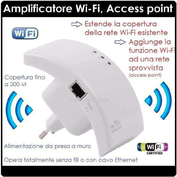 Amplificatore wifi 300 mbps ripetitore wifi range extender