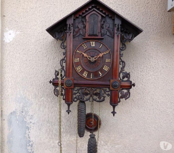 Antico orologio trombettiere foresta nera trumpeter clock