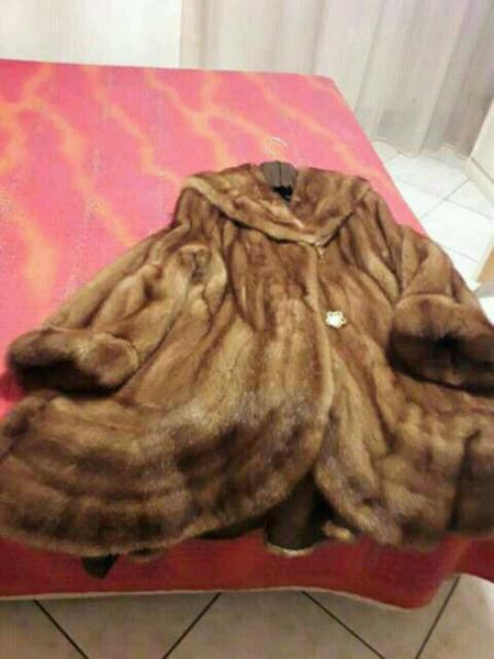 Cappotto renna e visone come nuovo taglia 46