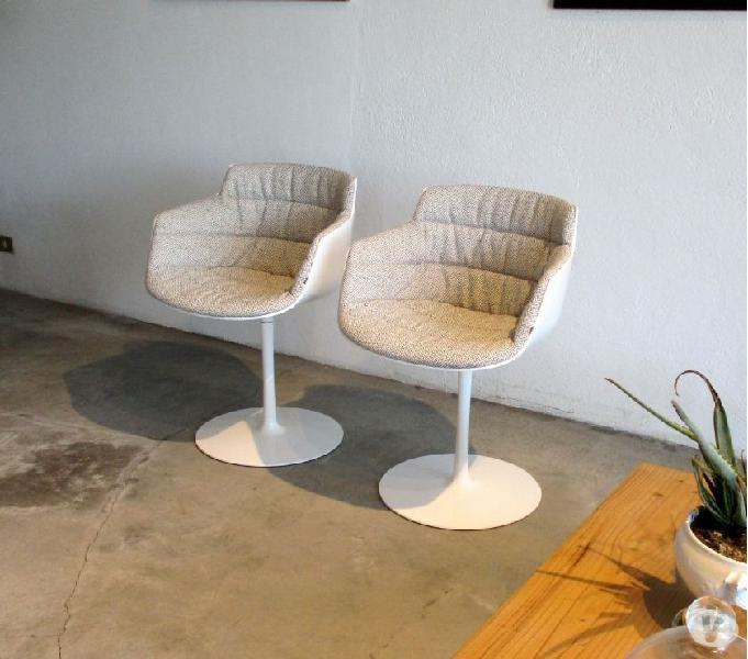Mdf italia, set 4 sedie sedie flow slim armachairs outlet