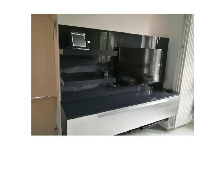 Mobile salotto san giacomo, laccato grigio antracite ottimo