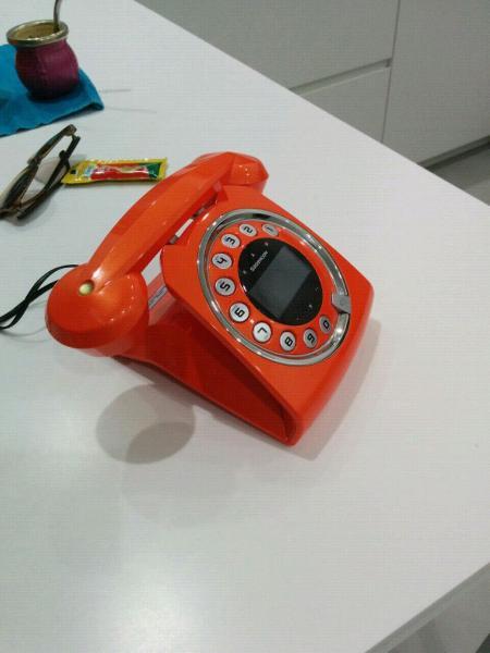Telefono cordless arancione design