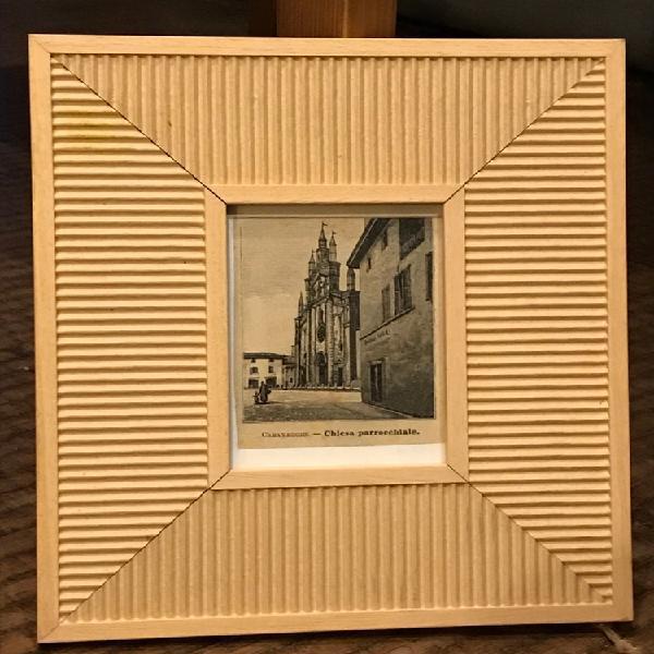 Cornice in legno intagliato + vetro