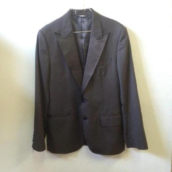 giacca uomo nera lucida