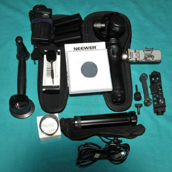 Gimbal con videocamera 4k dji osmo + accessori aggiuntivi