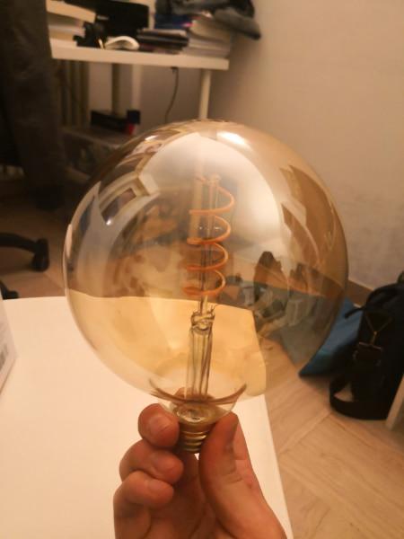 Lampadina led a filamento a spirale e27