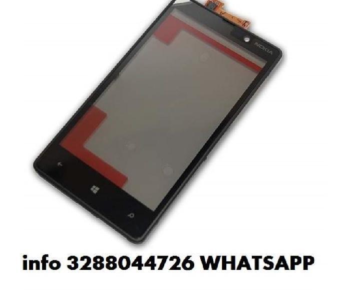 Lcd vetro nokia lumia 820,800,710,720,610,900 touch screen
