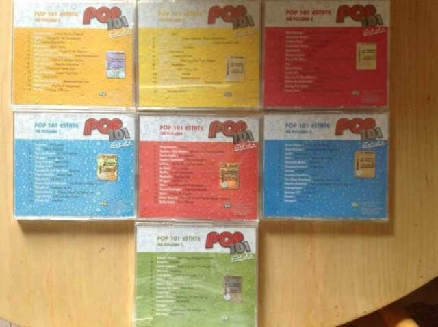 Pop 101 estate 7 cd originali compilation anni 80, 90, 2000