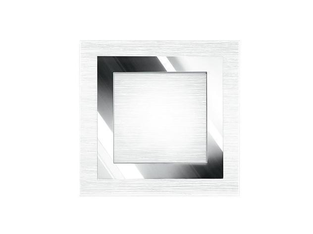 Plafoniera moderna quadrata vetro decoro cromato quadrato