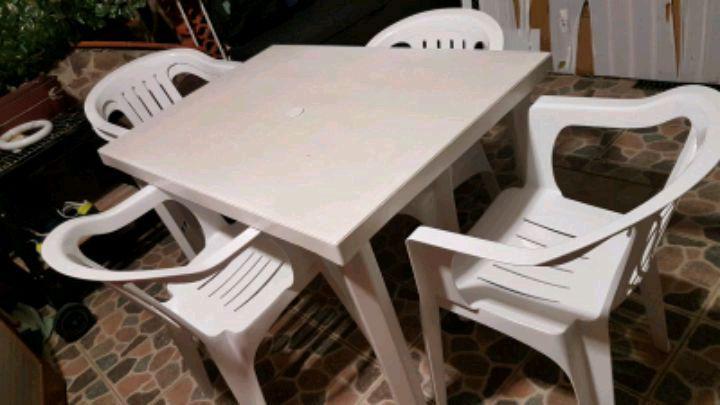 Set tavolo sedie giardino 【 OFFERTES Agosto 】 | Clasf