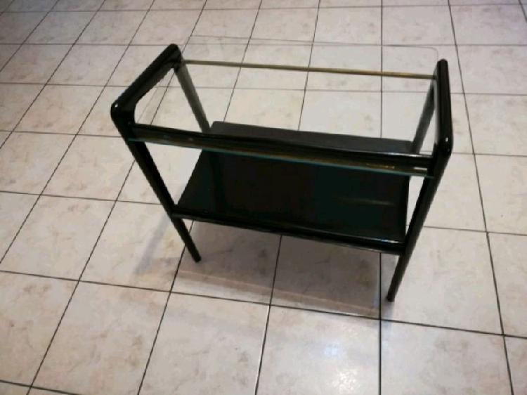 Tavolino in legno laccato nero vintage anni 30 /40