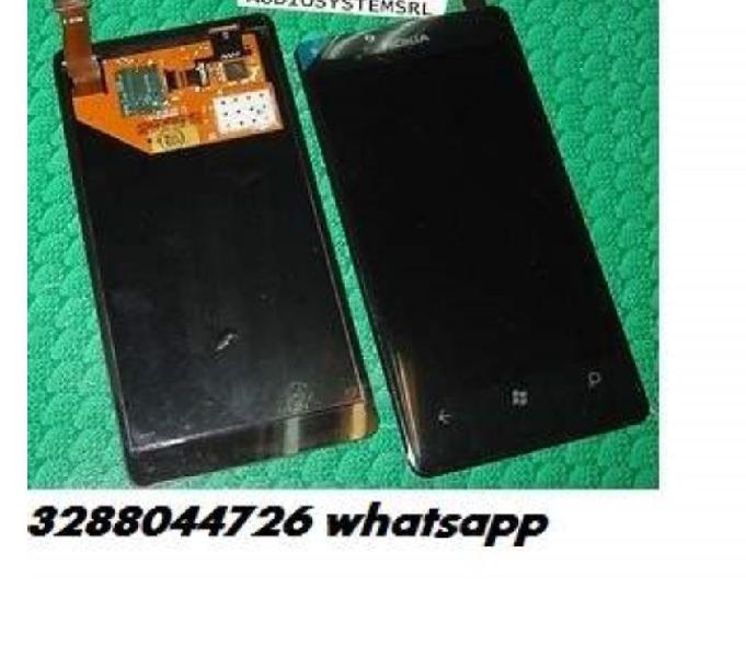 Vetro lcd display nokia lumia 800 820 900 625 635 tutti touc