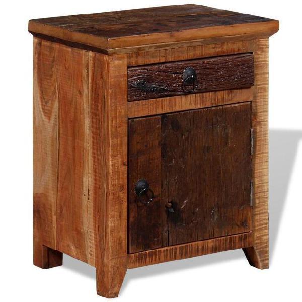 Vidaxl comodino in legno massello di acacia e traversine in