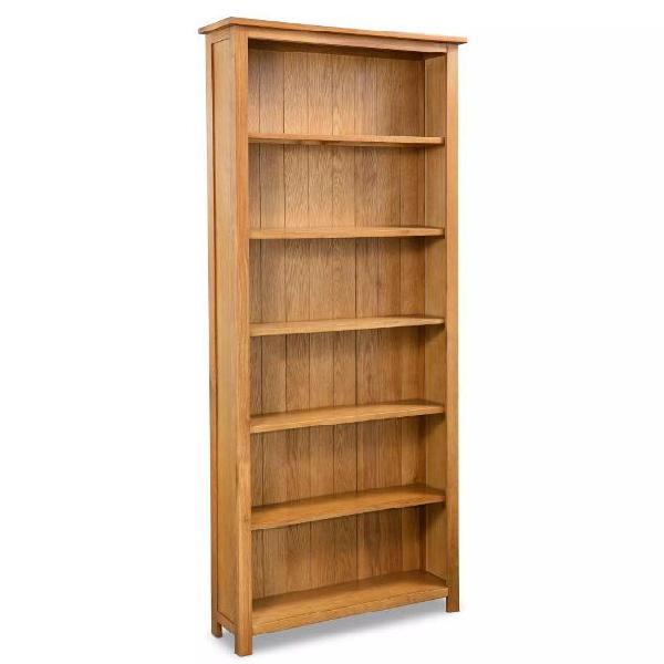 Vidaxl libreria a 6 ripiani 80x22,5x180 cm in massello di