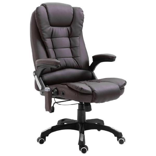 Vidaxl sedia da ufficio marrone in similpelle