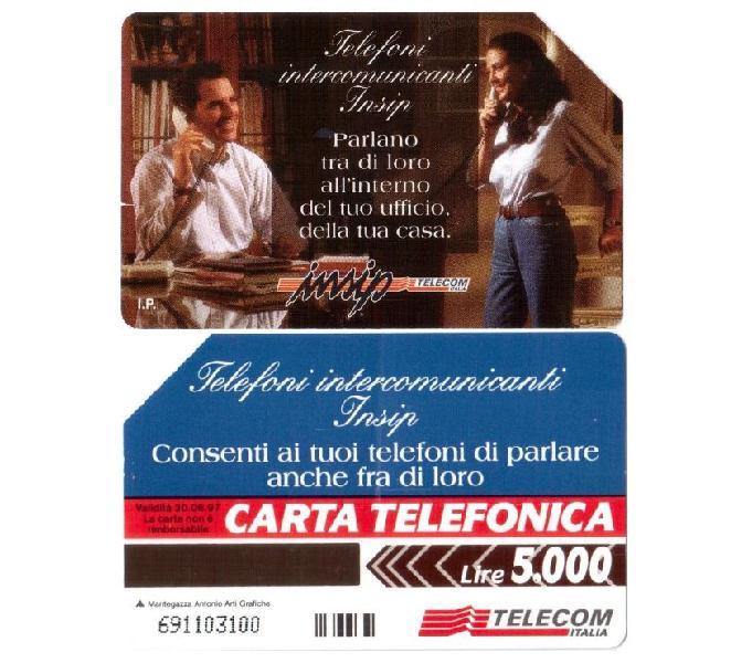 11 schede telefoniche usate da collezione italia