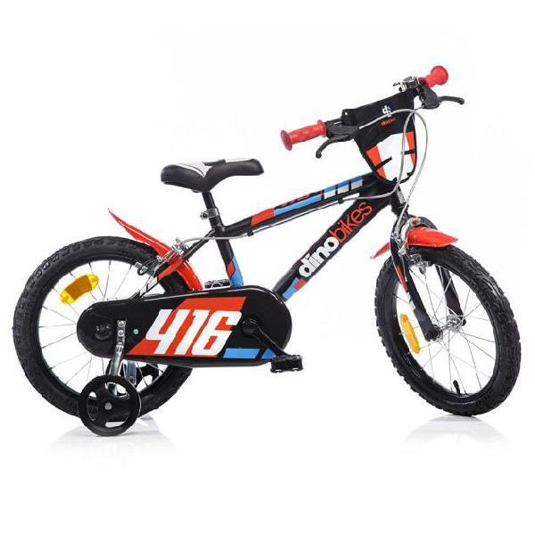 Bicicletta Per Bambino 16Â? Mtb 2 Freni 416us Dino Bikes