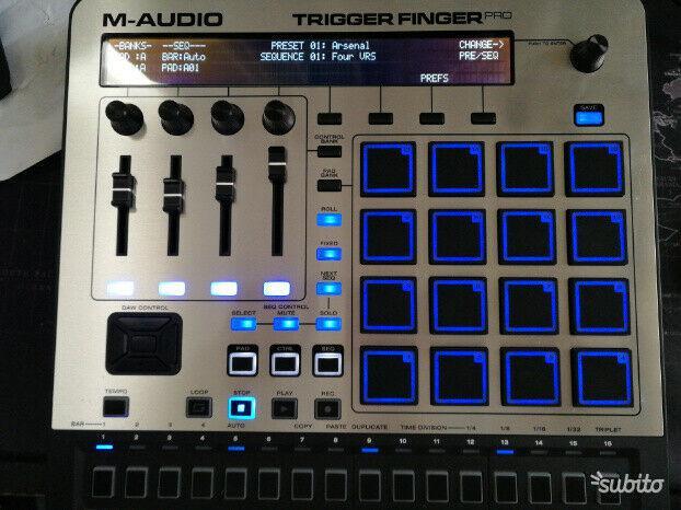 Drum machine trigger finger pro
