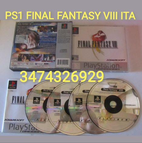 Gioco ps1 final fantasy viii pal ita
