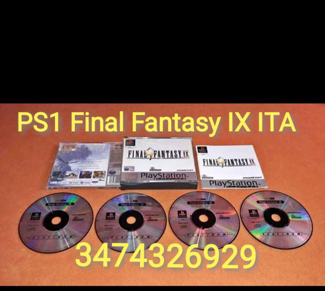 Gioco PS1 FInal Fantasy IX PAL ITA Completo e in ottime