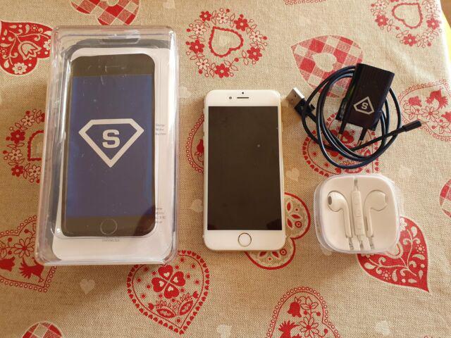 Iphone 6s 64gb oro ricondizionato, batteria nuova originale