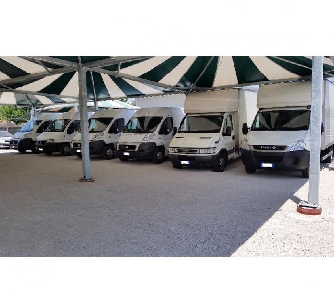 Noleggio furgone allestito trasporto abbigliamento