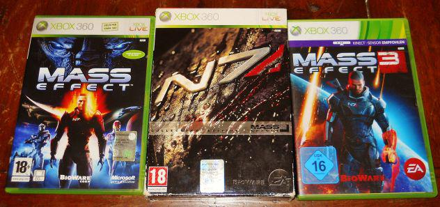 mass effect 1 2 3 N7 trilogia trilogy xbox 360 collector's