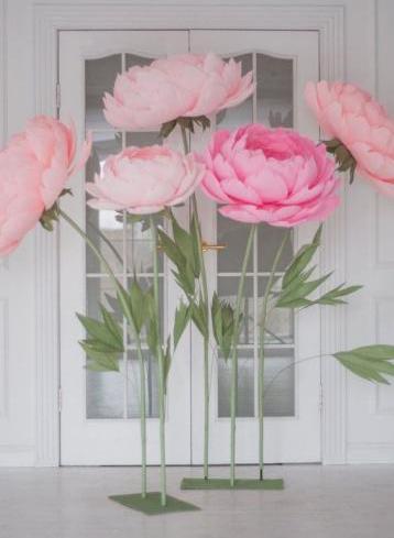 Corso paper flowers