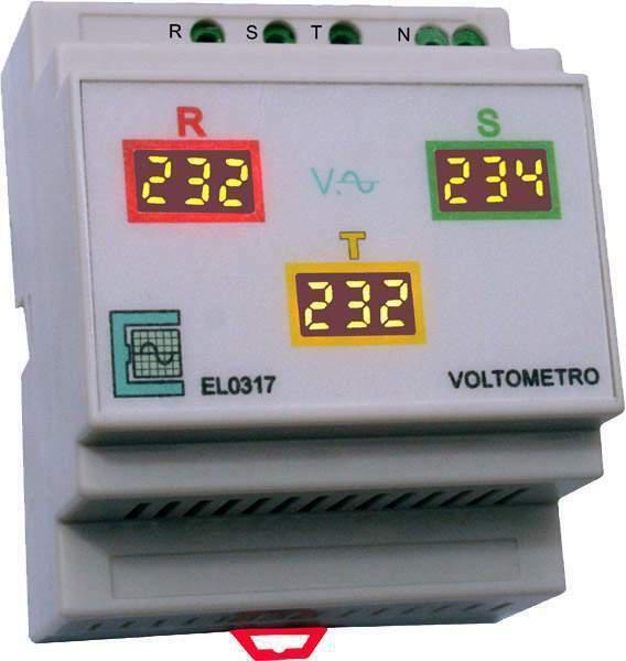 Voltometro digitale trifase + neutro