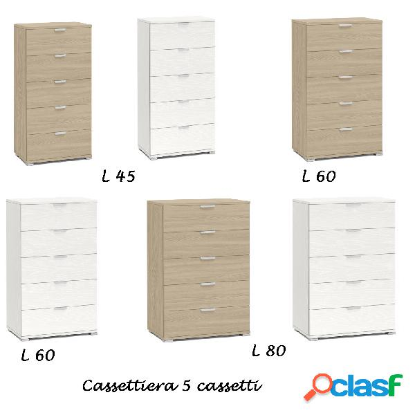 Cassettiera 5c basic