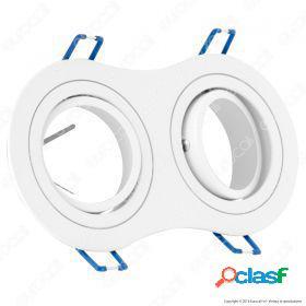 2*gu10 fitting round white