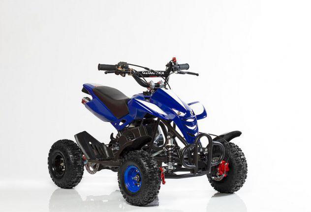 "Mini quad per bambini snake 50cc 2t ruota 4"" colore blu"