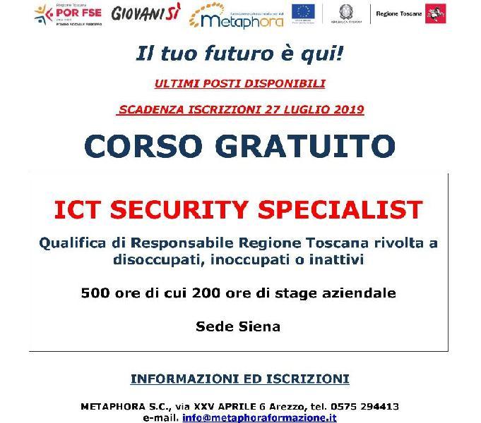 """Qualifica regionale """"ict security specialist"""""""