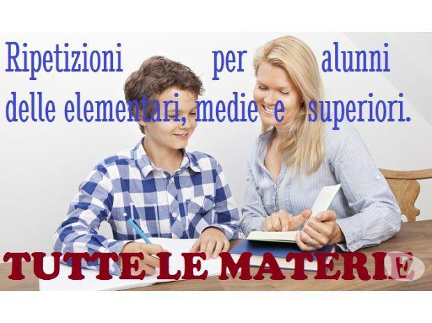 Ripetizioni alunni el.medie e sup. (mi e limitrofe)