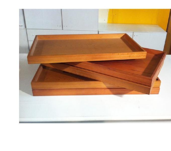 Stock 5 vassoi legno bordi alti